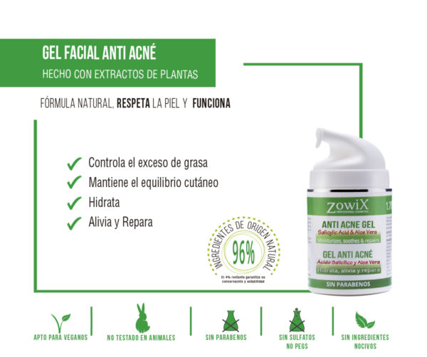 Beneficios gel antiacne